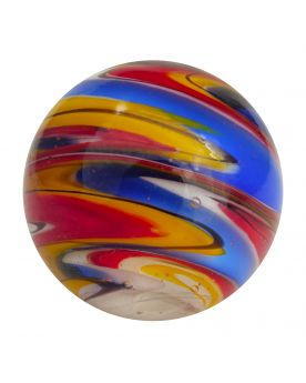1 Big Dark Blue Speedy Art Glass Marble 25 mm