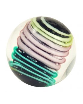 1 Medium Pastel Spiralo Art Glass Marble 22 mm