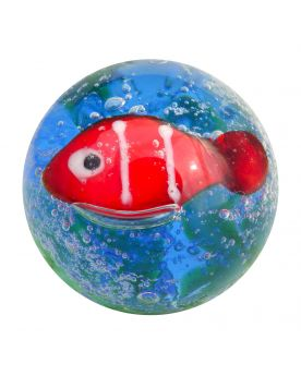 1 Medium Fish Glass Art Marble 22 mm
