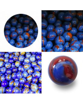 MyGlassMarbles - 10 Marbles Parrot - 9 GlassMarbles and 1 Shooter marble