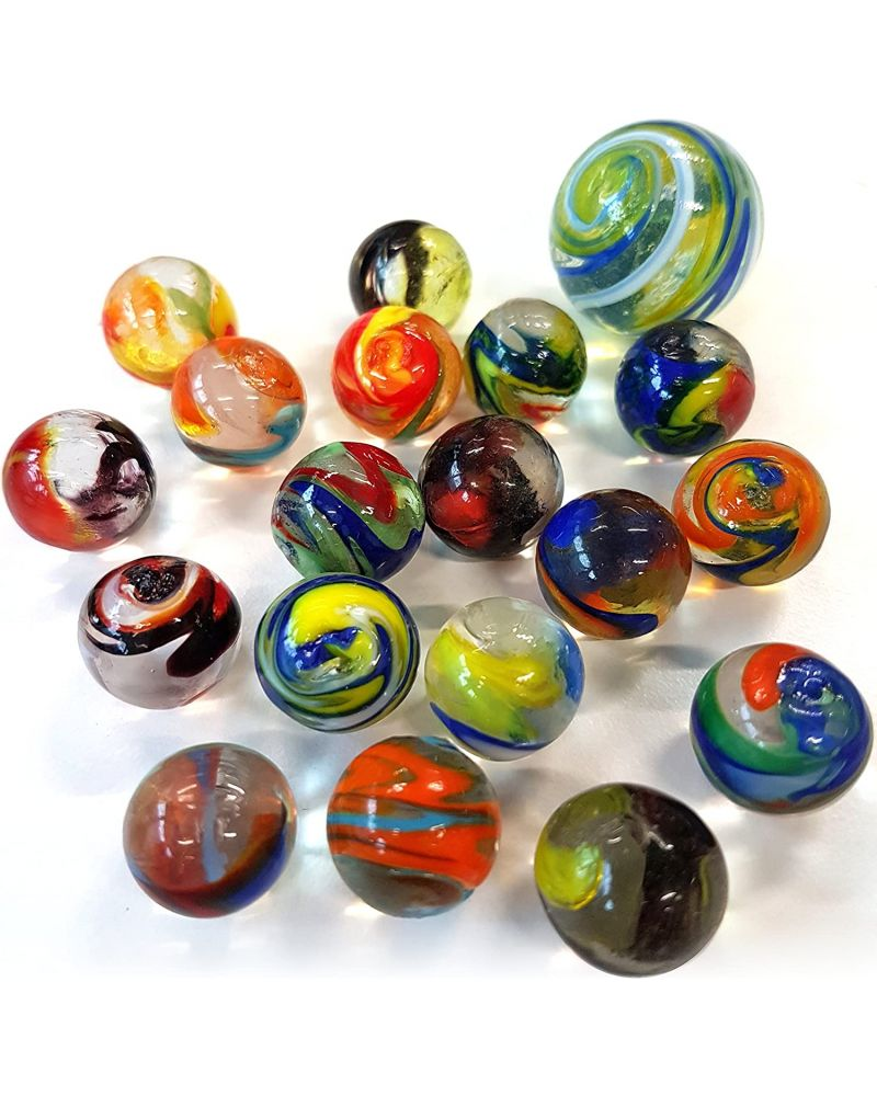 1 Marble Speedy 16 mm Glass Marbles Kim'Play