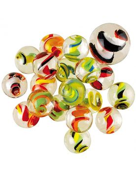 1 Marble Spiralo 16 mm Glass Marbles Kim'Play