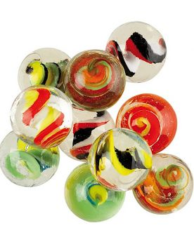 1 Shooter Marble Spiralo 25 mm Glass Marbles Kim'Play