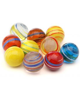 1 Shooter Marble équinoxe 25 mm Glass Marbles Kim'Play