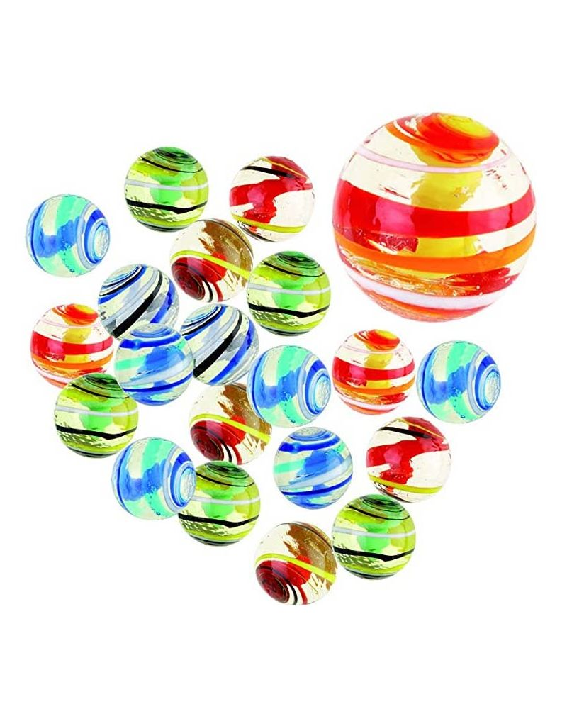 1 Marble Tortilla 16 mm Glass Marbles Kim'Play