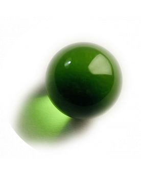 1 Medium Lens Green Glass Marble 20 mm