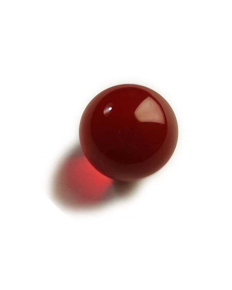 1 Medium Lens Red Glass Marble 20 mm