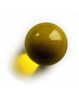 1 Medium Lens Yellow Glass Marble 20 mm