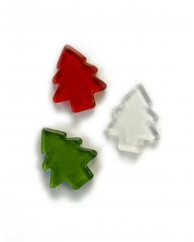 1 Flat Red Christmas Tree Glass Marble 21 mm