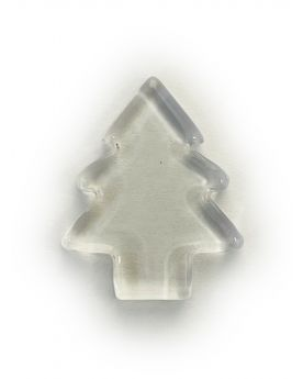 1 Flat Crystal Christmas Tree Glass Marble 21 mm