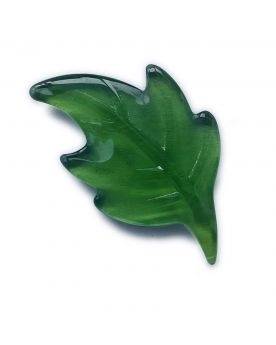 1 Flat Green Leaf Glass Marble 36 mm