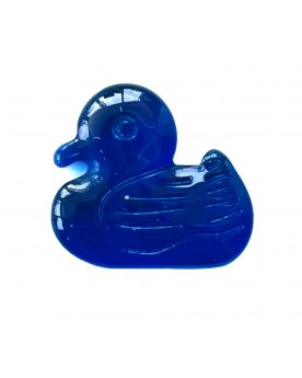1 Flat Dark Blue Duck Glass Marble 21 mm