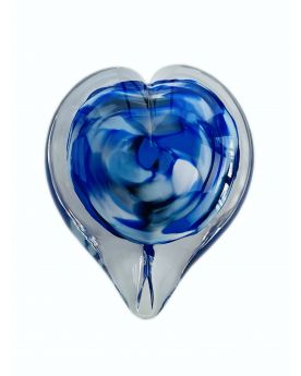 1 Blue Glass Love Paperweight 35 mm