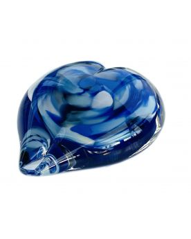 1 Blue Marble Art Collection Love Paperweight 35 mm Glass Marbles Art Collector