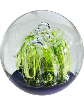 1 Green Glass Magic Forest Paperweight 85 mm Glass Marbles Art Collector
