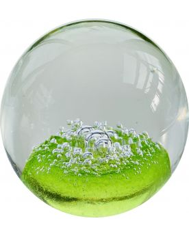 1 Green Glass Sparkling Paperweight 75 mm
