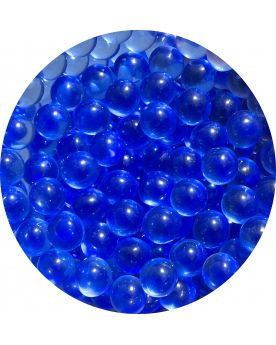 1 Mini Cobalt Blue Lens Glass Marble 10 mm