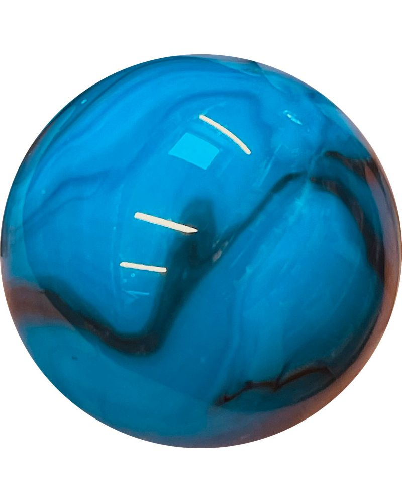 1 Mammoth Turquoise Zebra Glass Marble 50 mm