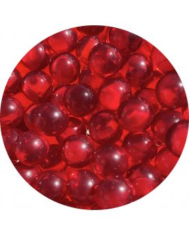 1 Small Red Lens Glass Marble 12 mm HQ