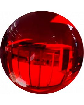 1 Mammoth Red Lens Glass Marble 50 mm HQ
