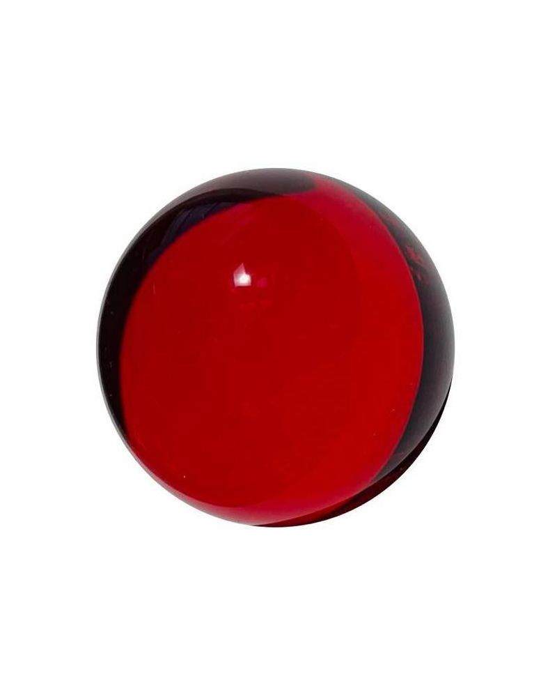 1 Mammoth Red Lens Glass Marble 40 mm HQ