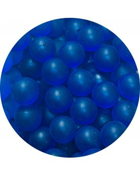 1 Opaque Blue Frosted Glass Marble 16 mm