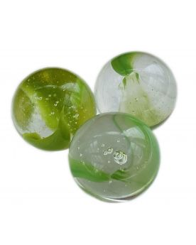 1 Big Water Lily Glass Marble 25 mm