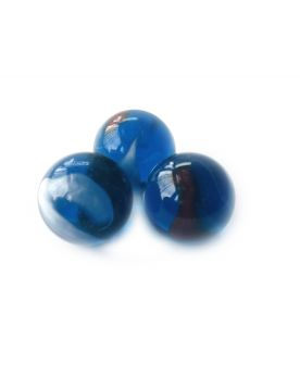 1 Big Blue Neon Glass Marble 25 mm
