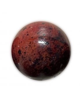 1 Medium Red Planet Glass Marble 22 mm