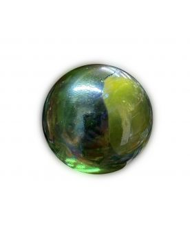 1 Very Large Green Neon Glass Marble 35 mm