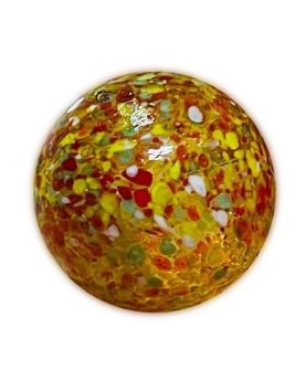 1 Very Large Yellow Planet Glass Marble 35 mm