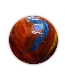 1 Very Large Red Arca Glass Marble 35 mm