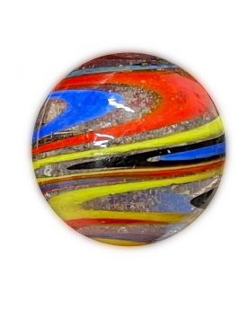1 Very Large Speedy Glass Marble 35 mm