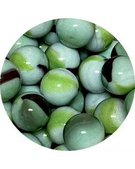 1 Mint Glass Marble 16 mm