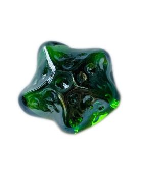 1 Green Star of the Sea Shaped Glass Marble 28 mm