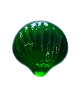 1 Green Shaped Shell Glass Marble 30 mm