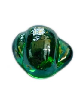 1 Green Shaped Neptunea Glass Marble 28 mm