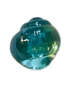 1 Turquoise Shaped Neptunea Glass Marble 28 mm