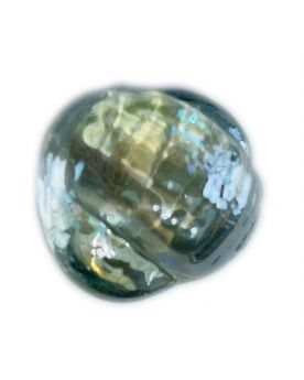1 Crystal Shaped Neptunea Glass Marble 28 mm