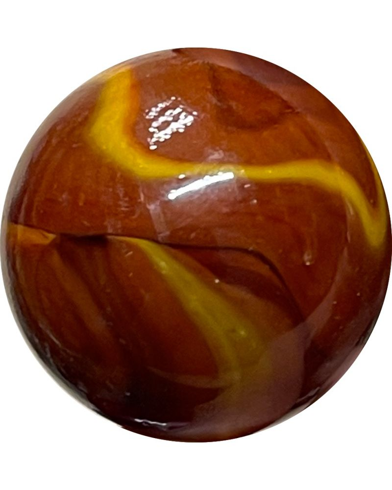 1 Very Large Volcano Glass Marble 35 mm