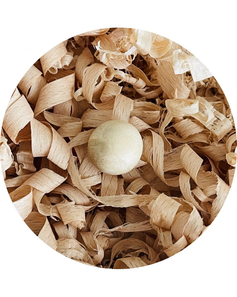 1 Small Sycamore Wood Marble 14 mm