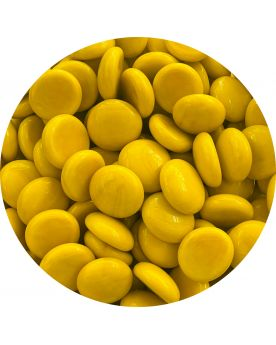 1 Flat Pearl Yellow Glass Marble 18 mm