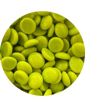1 Flat Pearl Green Yellow Glass Marble 18 mm