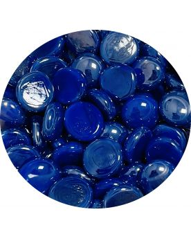 1 Flat Blue Glossy Glass Marble 18 mm